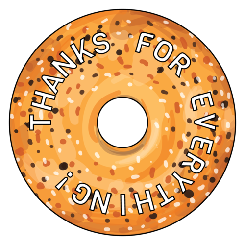 Everything Bagel Thank You Favor Label