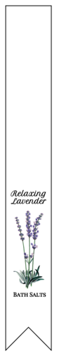 Lavender Plant Bath Salt Label