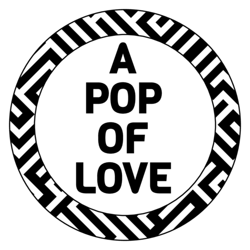 """A Pop of Love"" Popcorn Favor Label"