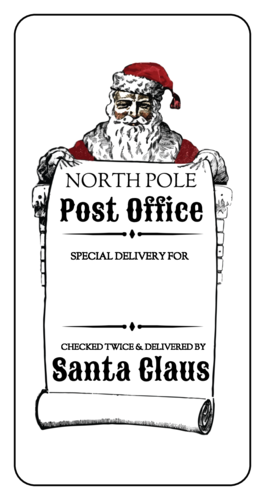 North Pole Delivery Christmas Gift Label