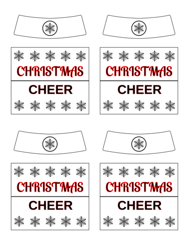 Christmas Cheer Beer Bottle Label