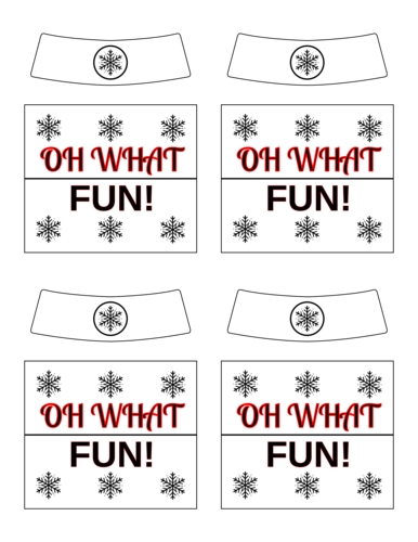 """Oh What Fun!"" Beer Bottle Label"