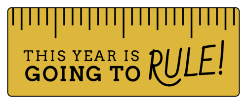 """This Year is Going to Rule"" Classroom Favor Label"