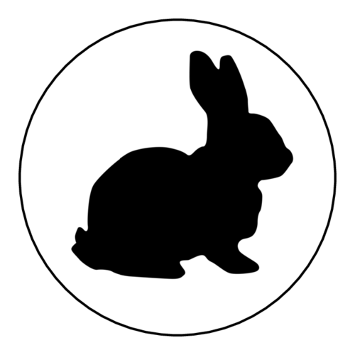 Easter Bunny Silhouette Sticker