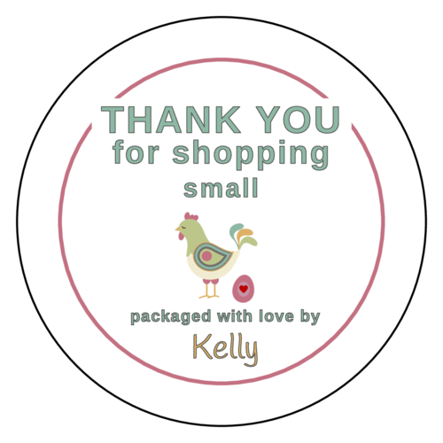 """Thank You For Shopping Small"" Label"