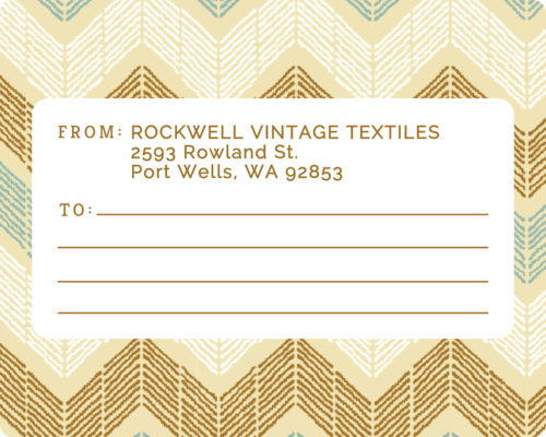 Earthy Chevron Office Mailing Label