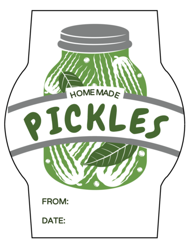 Homemade Pickles Jar Label