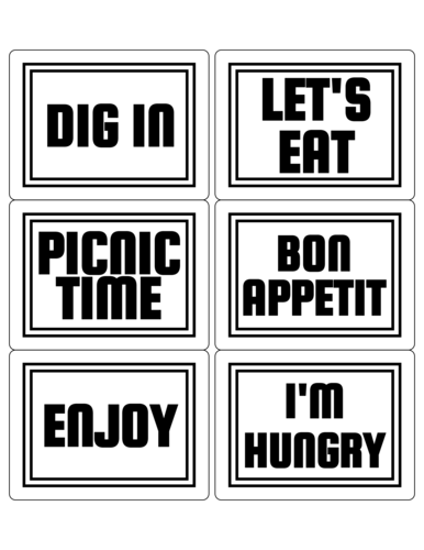 Picnic Lunch Label
