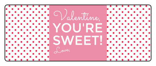 """Valentine, You're Sweet"" Gift Label"