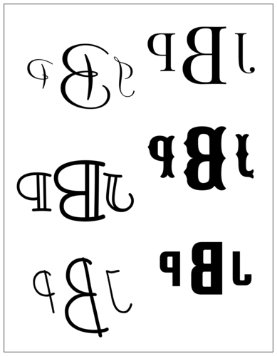 Reverse-Print Monogram Sticker
