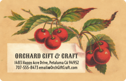 Vintage Cherries Address Label