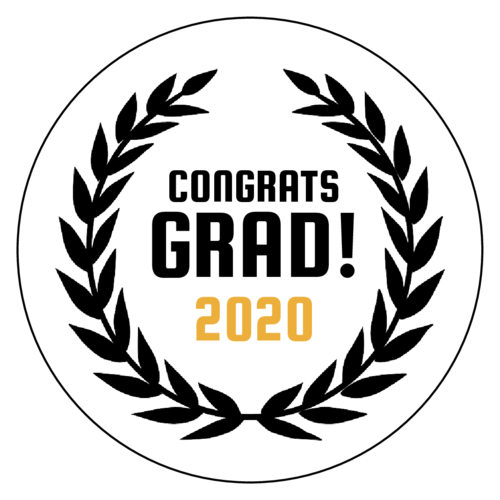 """Congrats Grad!"" Graduation Favor Label"