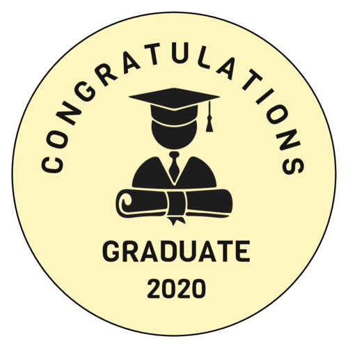 """Congrats Graduate"" Graduation Sticker"