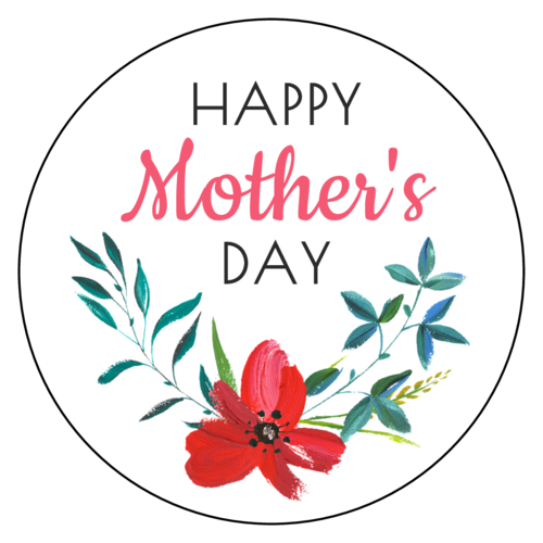 """Happy Mother's Day"" Floral Label"