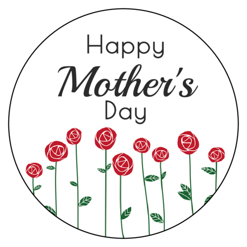 "Floral ""Happy Mother's Day"" Sticker"