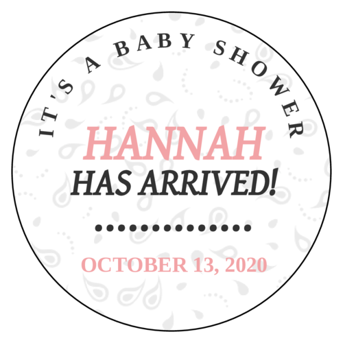 Paisley Baby Shower Favor Label