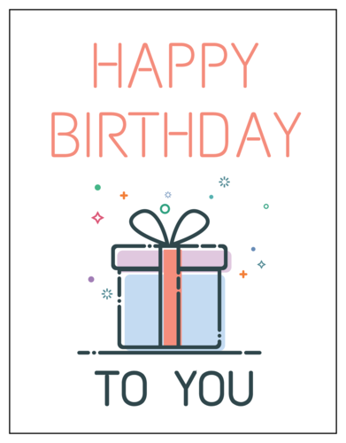"""Happy Birthday To You"" Cardstock Postcard"