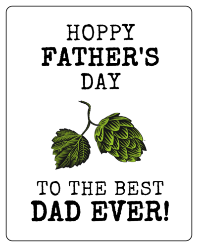 """Hoppy Father's Day"" Beer Bottle Label"