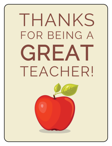 Teacher Appreciation Wine Bottle Label