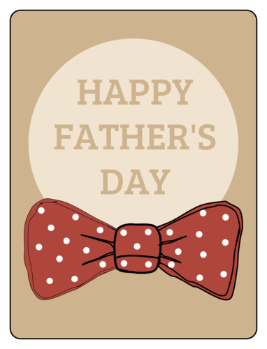 Bowtie Father's Day Gift Label