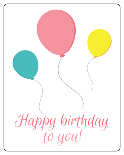 Birthday Balloon Gift Label
