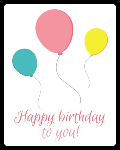 Birthday Balloon Gift Label