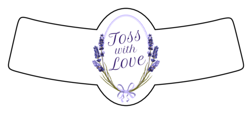 Lavender Toss Seeds Wedding Label