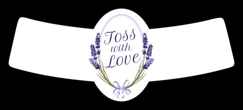 Lavender Toss Seeds Wedding Label