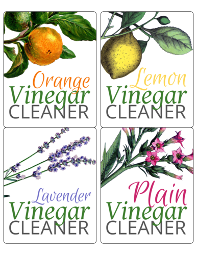 Homemade Vinegar Cleaners Printable