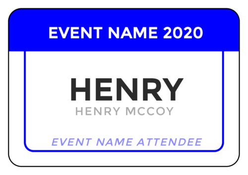 Event Name Tag Label