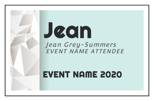 Event Name Badge Cardstock Insert