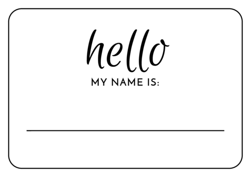 Elegant Wedding Name Tag Label