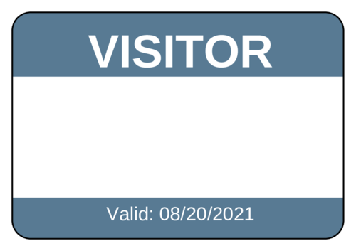 Visitor Name Tag Label