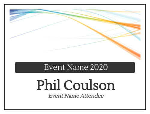 Business Event Cardstock Name Tag Insert