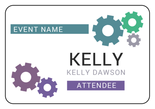Cogs & Gears Event Name Tag