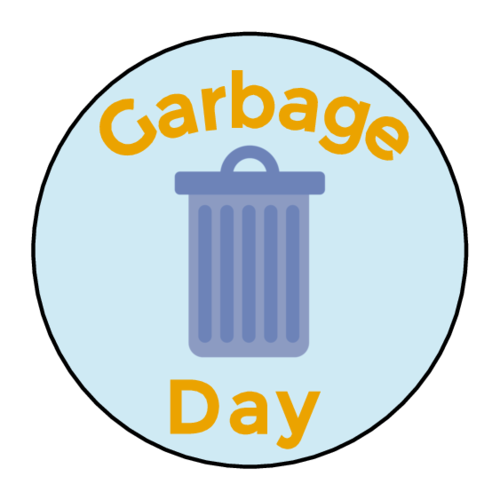 """Garbage Day"" Planner Sticker"