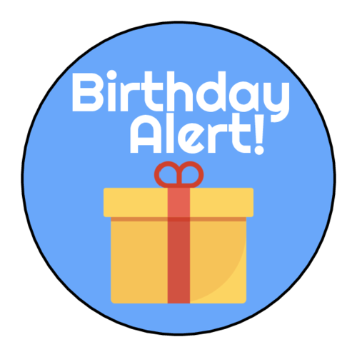"""Birthday Alert"" Planner Sticker"