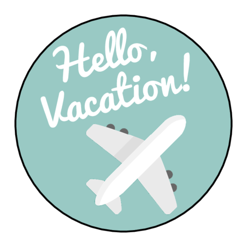 """Hello Vacation"" Planner Sticker"