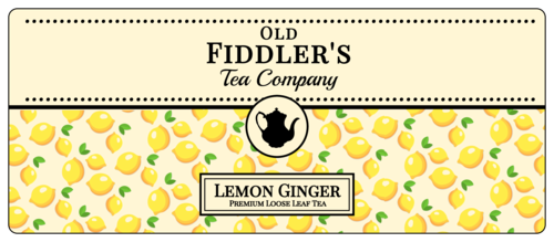 Lemon Loose Leaf Tea Label