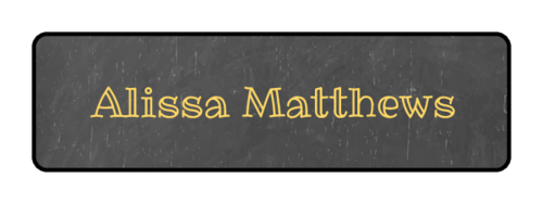 Chalkboard Style Classroom Name Tag Label