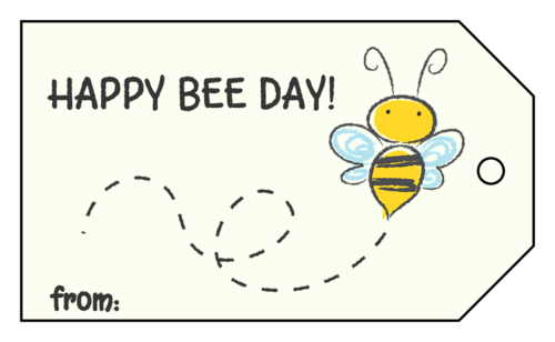 Punny Bee Birthday Gift Tag