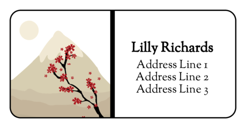 Sakura Mountain Address Label