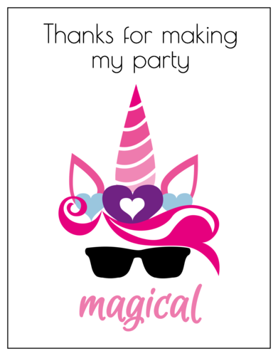 """Thanks For Making My Party Magical"" Thank You Card"