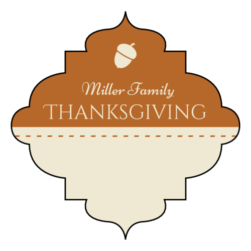 Decorative Write-In Thanksgiving Favor Label