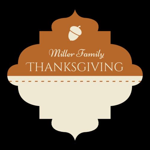 Decorative Write-In Thanksgiving Favor Label