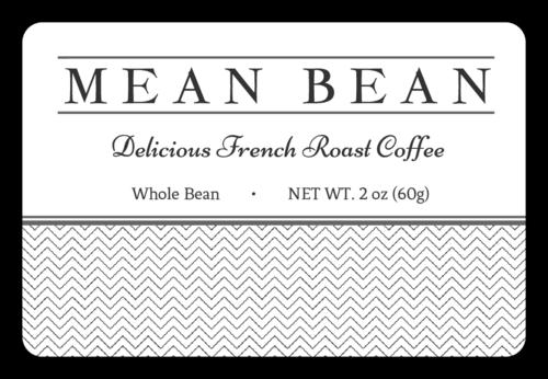 Mean Bean Coffee Bag Label