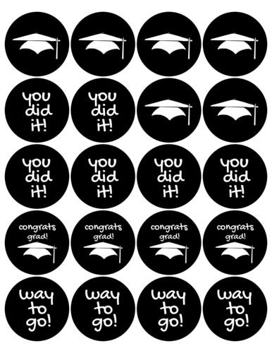 Assorted Graduation Favor Labels Printable