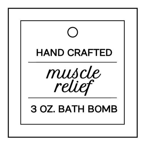 Modern Bath Bomb Cardstock Tag
