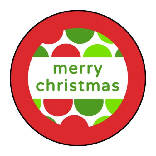 """Merry Christmas"" Polka Dot Sticker"