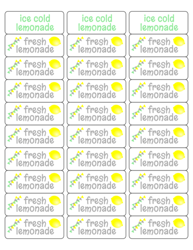 Lemonade Stand Kit Label